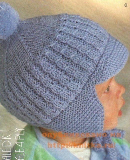 Trisstreet Вязание шапочки спицами для 5месячного ребенка....