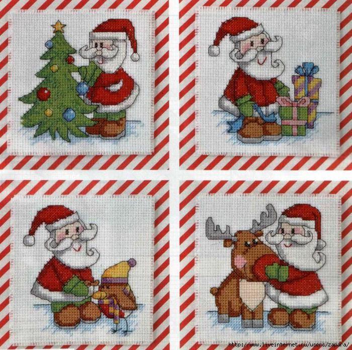 открытки крестом новый год