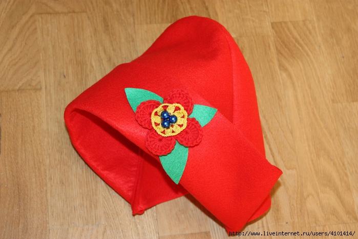 Шьем шапочку для Красной Шапочки Ярмарка Мастеров 39