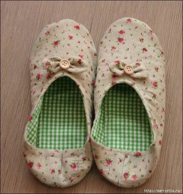 Домашняя обувь своими руками схемы 5
