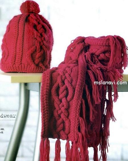 вязание шапки японское вязание