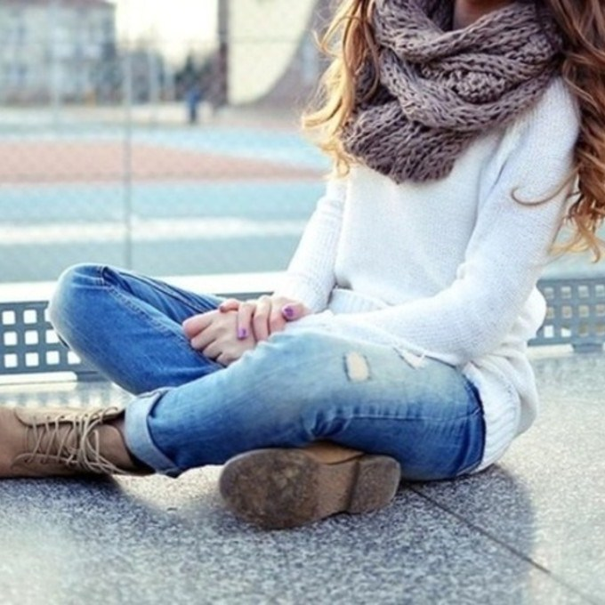 t3x5m6-l-c680x680-shoes-scarf-knit-sweater-ripped-jeans-fall-sweater-jeans (680x680, 92Kb)