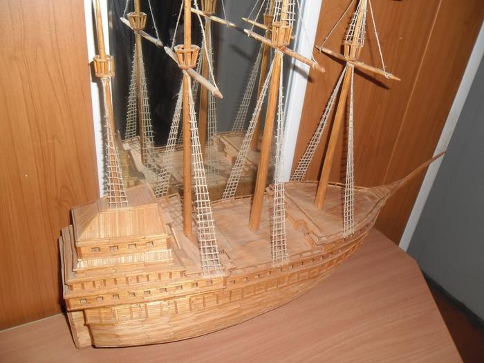 основном рачками картинки кораблей из спичек окраска