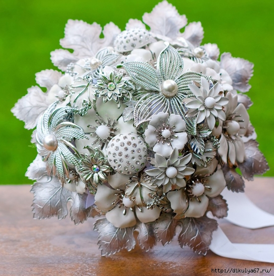 Серебряная свадьба сделать букеты, букеты