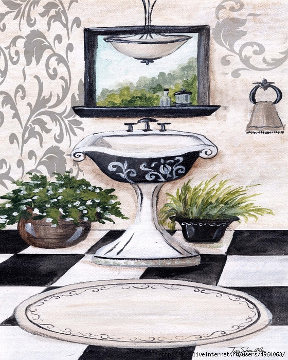BlackDamask_Bath_Sink (560x700, 409Kb)