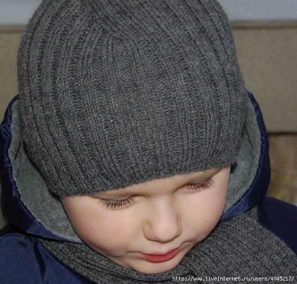 вязание шапки двойной резинкой спицами