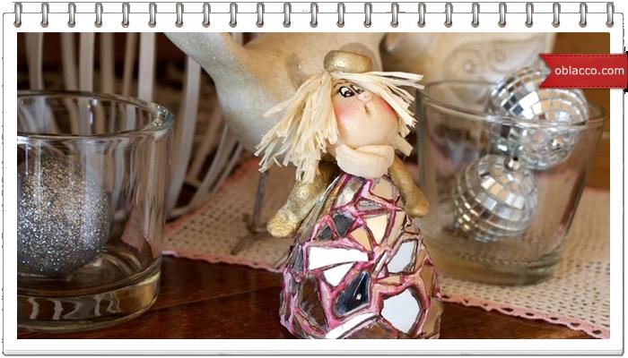 Зеркальный ангел из соленого теста. Мастер класс с фотографиями