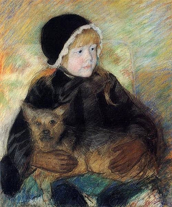 Mary_Cassatt_(1844-1926)__Elsie_Cassatt_Holding_a_Big_Dog_1880 (581x700, 363Kb)