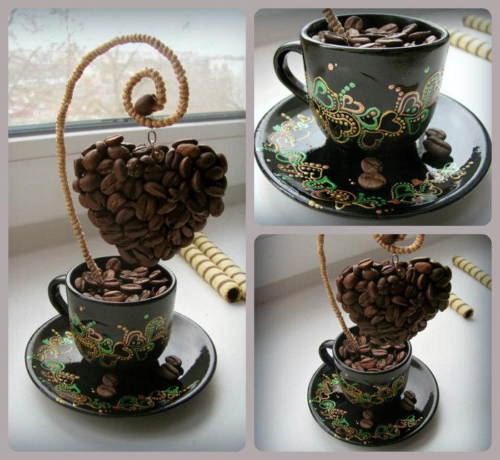 Чашка с кофе поделка  мастер класс 90