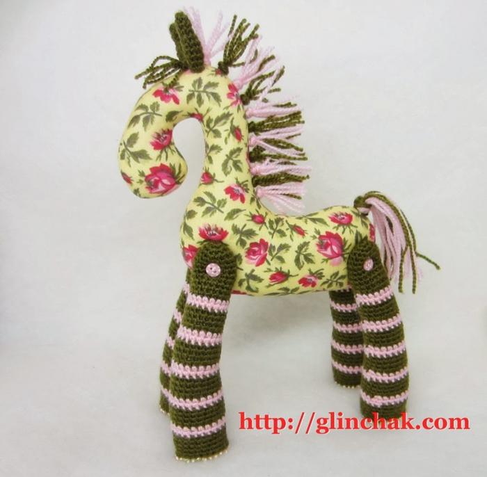 Вязано-шитая лошадка к новому году. Мастер класс