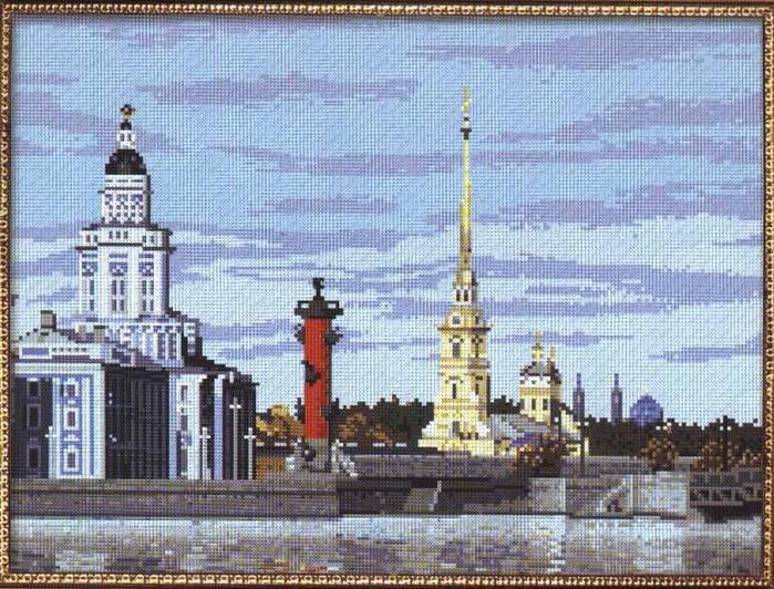 Вышивка. Санкт-Петербург, городской пейзаж