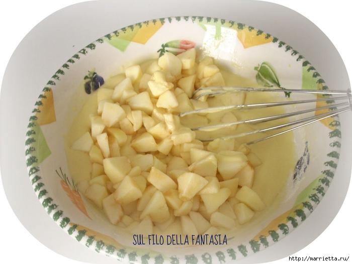 Яблочный пирог. Простой рецепт, но очень оригинальное оформление (2) (700x525, 217Kb)