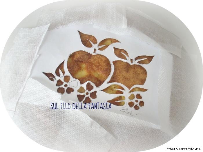 Яблочный пирог. Простой рецепт, но очень оригинальное оформление (7) (700x525, 220Kb)