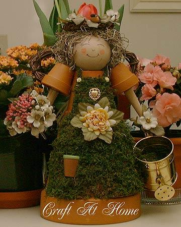 ангел из цветочных горшков