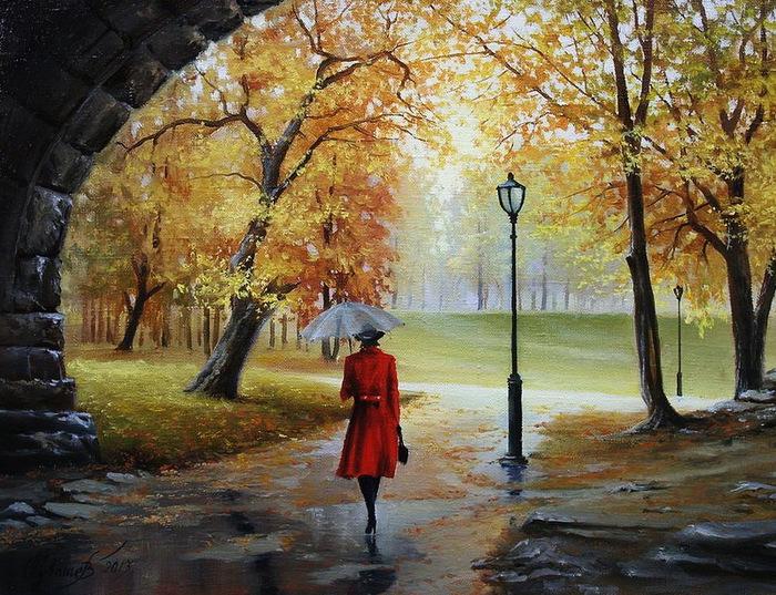 Девушка под дождем с зонтом картинки 8