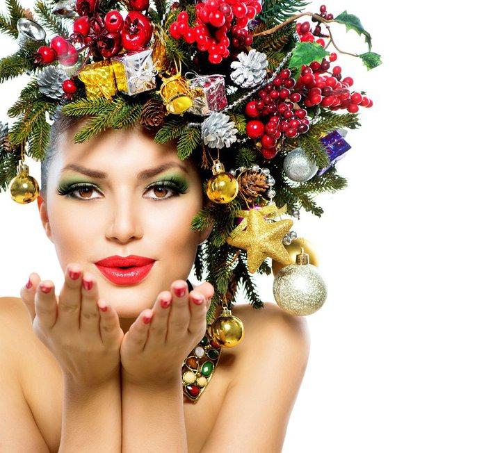 новогодние картинки стилистов визажистов
