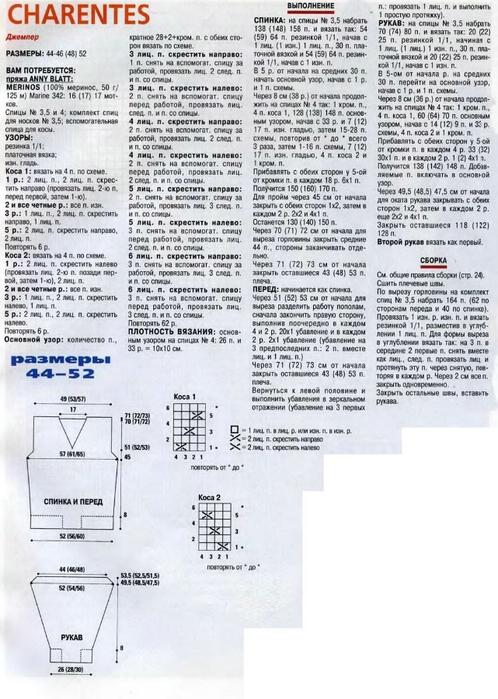 """Модель из журнала  """"Золушка вяжет 214-2006-11 Спец выпуск Модели Франции Для мужчин """" ."""