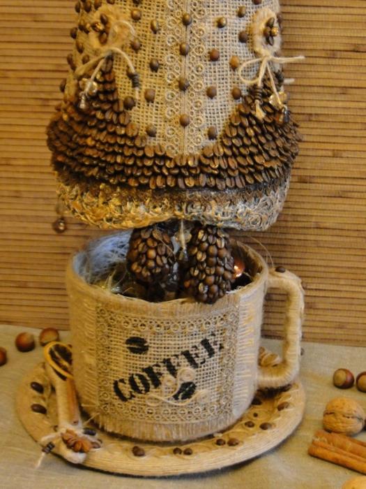 Кофейные елочки своими руками
