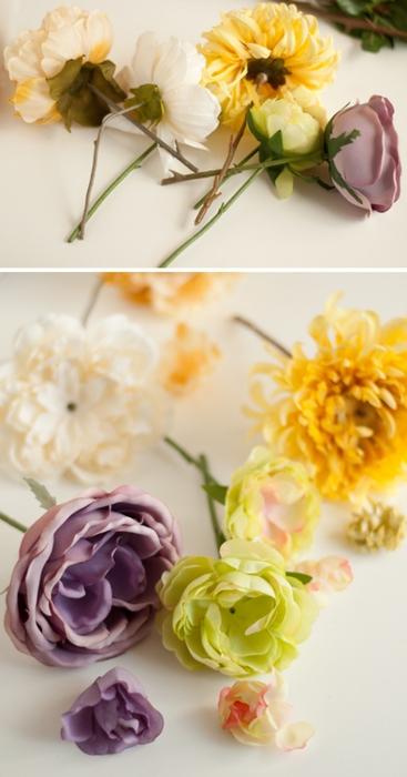 мастер класс, цветы в гипсе