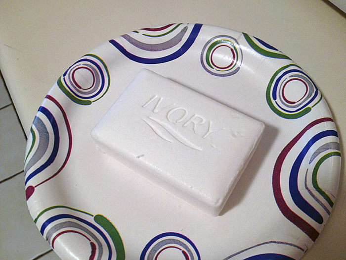 Мыло Снеговик, очень простой способ приготовления