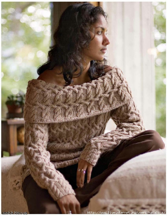 свитер с открытыми плечами обсуждение на Liveinternet российский