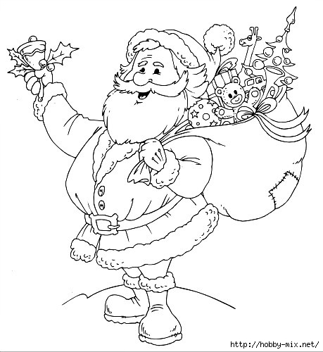 Santa claus clipart black and white