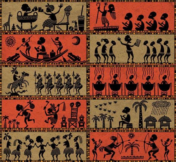 орнаменты африки и рисунки