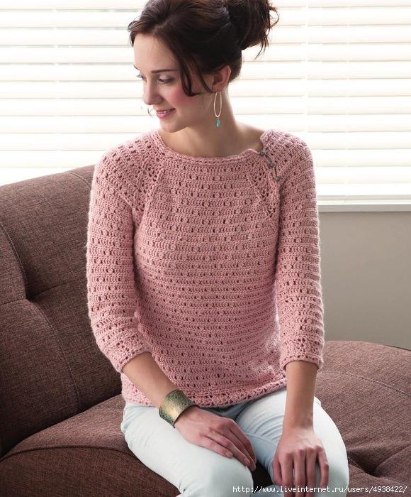 Как связать свитер себе крючком для начинающихсхема