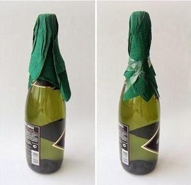 новогодняя упаковка и украшение бутылок (12) (390x379, 54Kb)