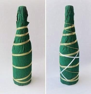 новогодняя упаковка и украшение бутылок (14) (375x384, 61Kb)