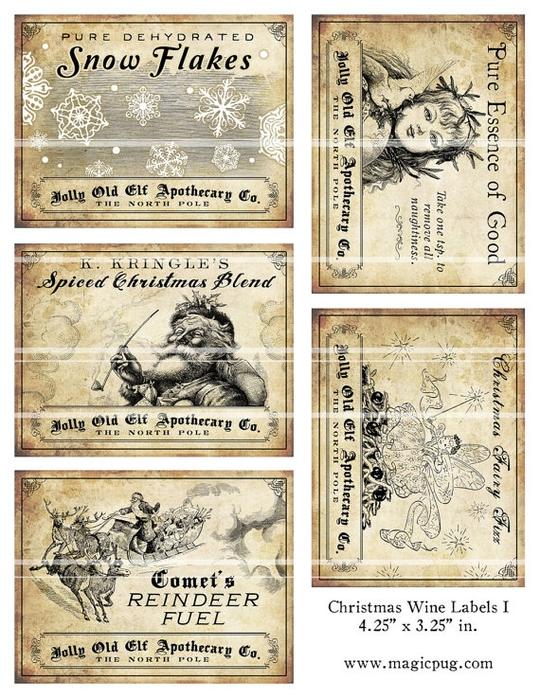 рождественское украшение винных бутылок (4) (540x700, 349Kb)