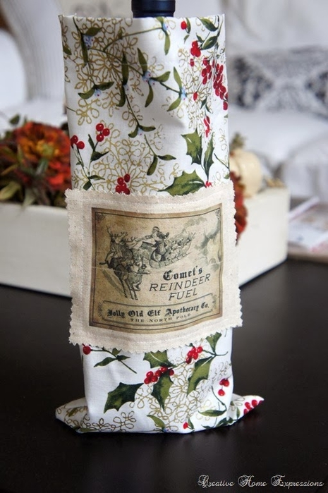 рождественское украшение винных бутылок (10) (465x700, 214Kb)