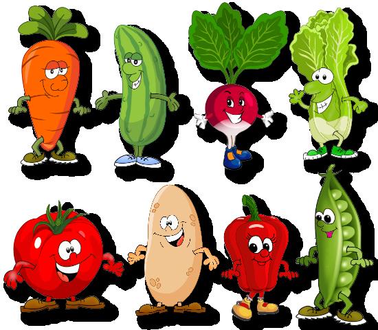 Картинки Весёлые Фрукты И Овощи