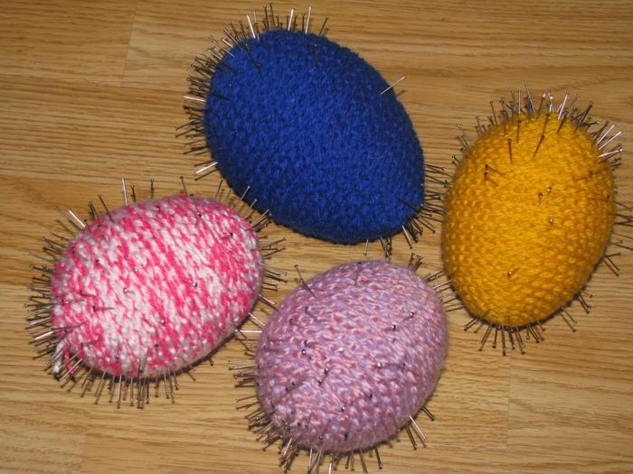 Пасхальные яйца из ниток. Вязание крючк