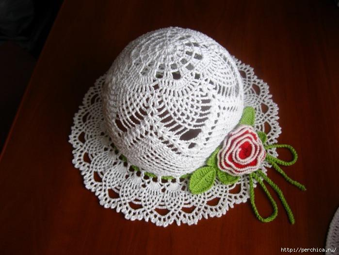 летние шляпки связанные крючком с цветами много схемидей и мк