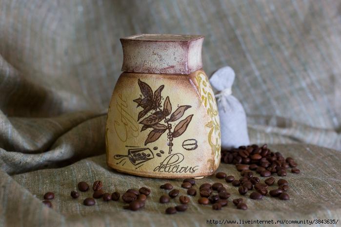 одно окно картинки кофе декор декупаж тех