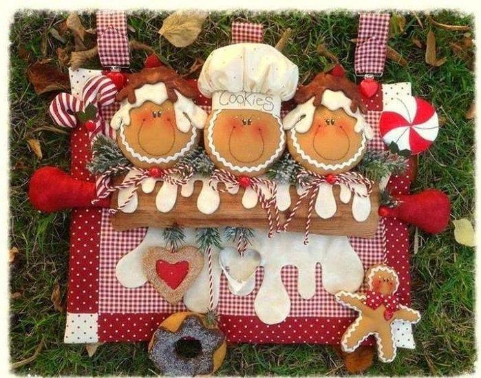 Рукоделие из ткани декор для кухни картинки