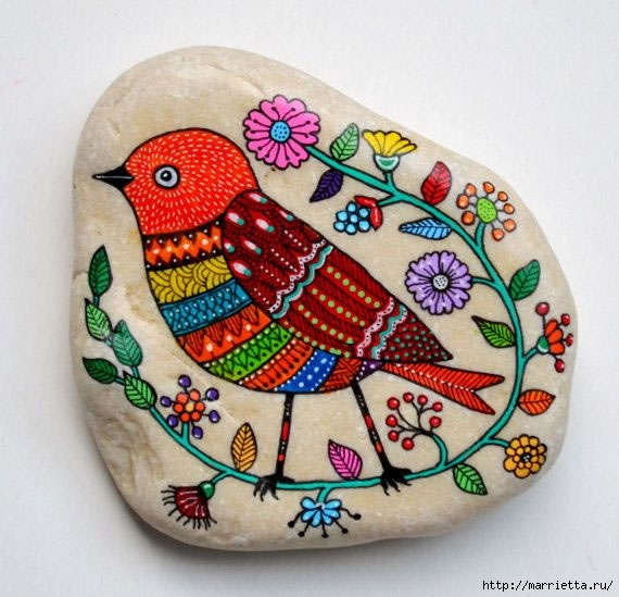 Ожившие камушки или роспись на камнях (1) (570x549, 188Kb)
