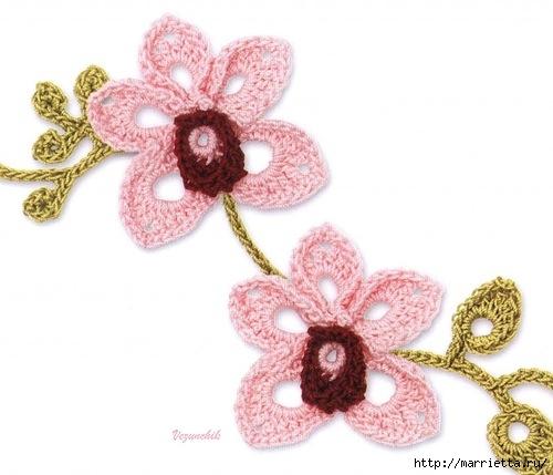 Цветы ОРХИДЕИ крючком. Схемы (1) (500x429, 108Kb)