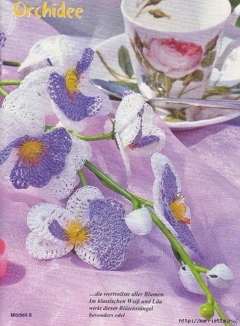 Цветы ОРХИДЕИ крючком. Схемы (5) (495x671, 312Kb)