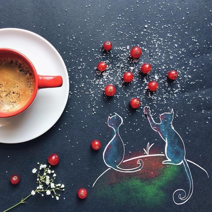 Открытка с добрым утром креативные, благодарность