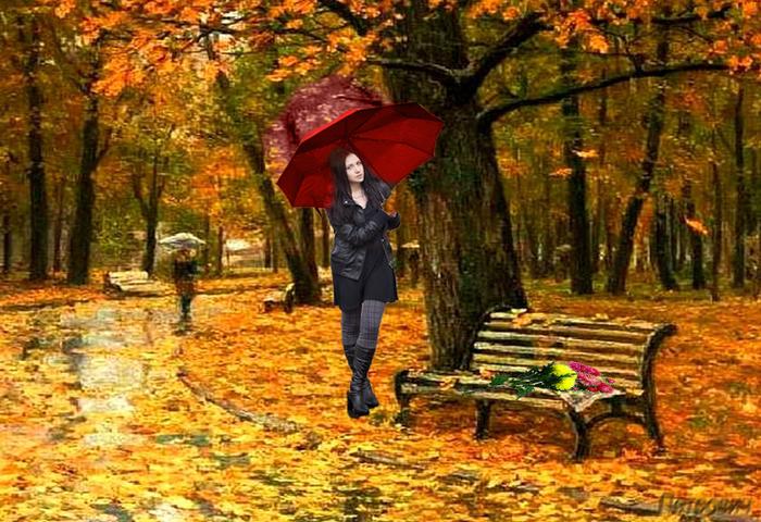 сало, гулял сентябрь кружил листвой картинки картина