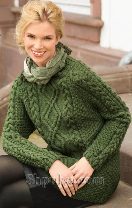 Вязание аранов для пуловера 73