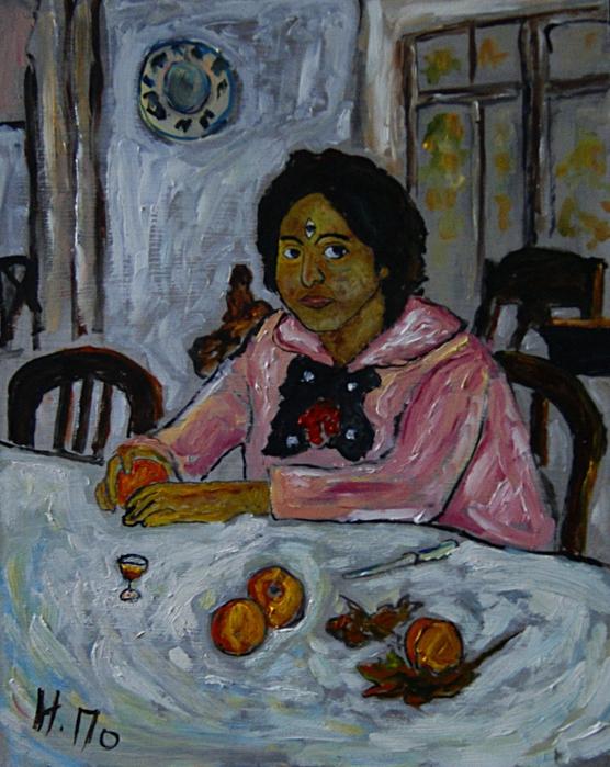 Картинки девочка с персиками живописец