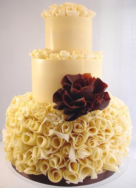 Съедобные украшения на свадебный торт