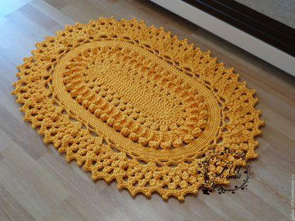 текстиль ковры ручной работы вязаный коврик симпатия L от