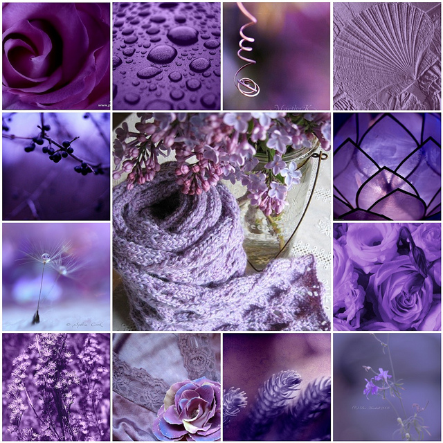 наложение фиолетового цвета на фото элитных предметов интерьера