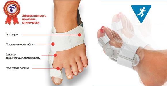 Бандаж для лечения косточки на ноге