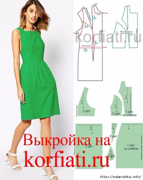 4f8c1120e56 Выкройка платья-сарафана. Школа Анастасии Корфиати. Обсуждение на ...