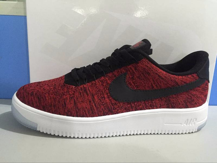 Nike Air Force 1 Flyknit men women Red White (700x525, 232Kb)